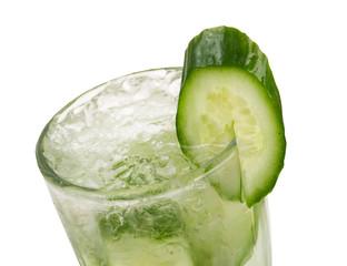 cucumber cocktail  closeup