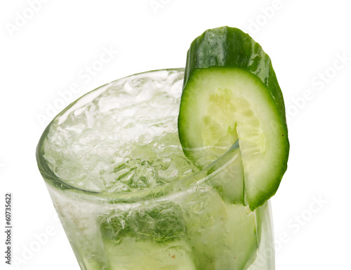 cucumber cocktail  closeup