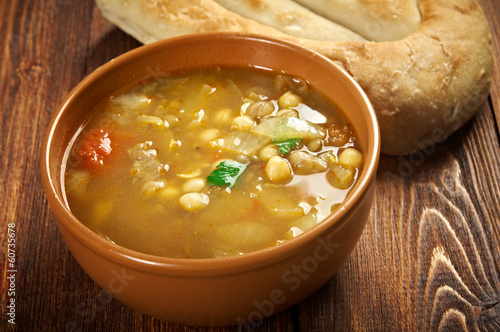 Moroccan traditional soup - harira