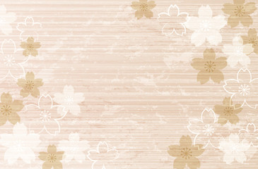 桜 風景 Shabby Chic Cherry blossom background
