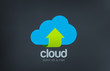 Logo Cloud computing. Data upload download icon