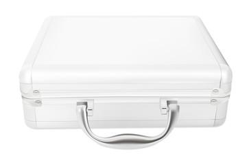 Metallic suitcase, vector illustration.