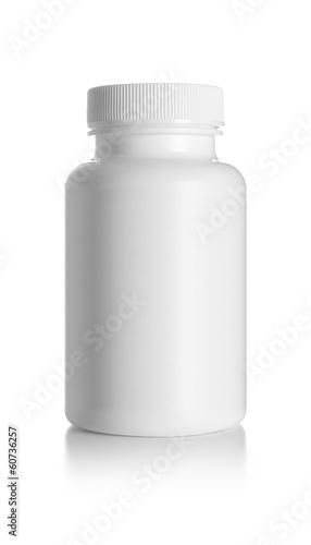 Leinwanddruck Bild Blank medicine bottle