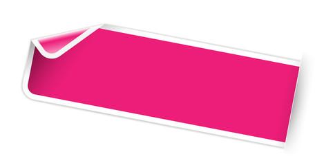 blank pink sticker