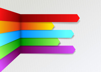 Colorful bright threedimensional infographics arrows