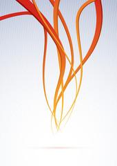 Orange channel - speed waves background