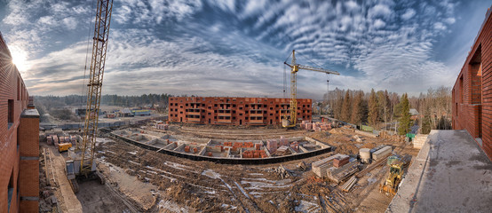 Construction site panorama
