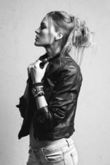 beautiful woman model posing  in the studio