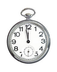 Pocket watch on white