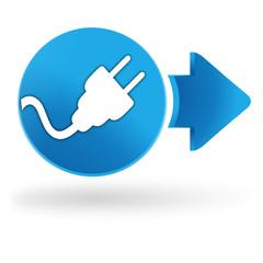 électrique sur symbole web bleu