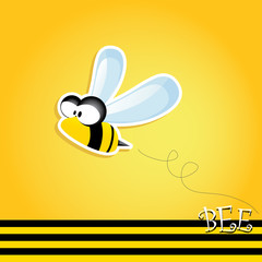 vector bee icon. cartoon cute bright baby bee.