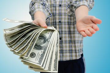 boy and dollars