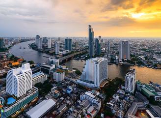 Beautiful along Chao Phraya river Bangkok