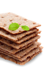 grain Crispbread cracker, isolated