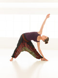 stretching and strength arms yoga pose