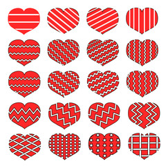 Red loving heart icons