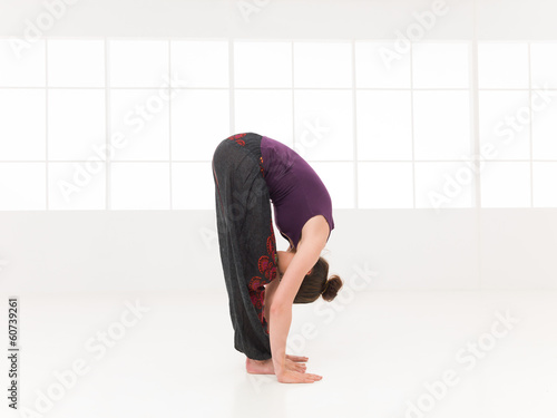 forward bending begginer stretching yoga pose