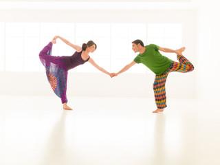 yoga gym vibrant color