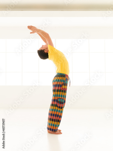 salutation yoga pose