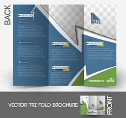 Travel Tri-Fold Mock up & Front Brochure Design.
