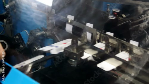 Machine for packaging drugs tablets