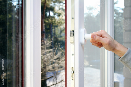 hand open plastic pvc window
