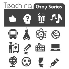 Teaching  Icons Gray Series