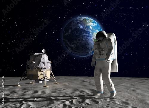 Fototapeta Astronaut on the Moon