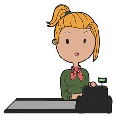 doodle cashier