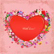 Valentine of lovely flowers