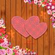 Valentine on a wooden texture