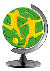 Globus im Ständer, Sport, global, Erde, Erdball, Business, Geog