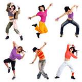 Fototapety Tanzen Bewegung Spaß Collage