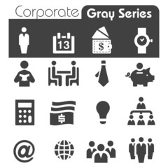 Corporate Icons Gray Series