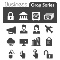Business Icons Gray Series