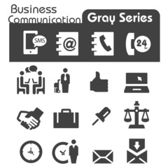 Business Communication Icons Gray Series
