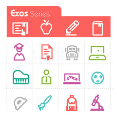 Education Icons Exos Series