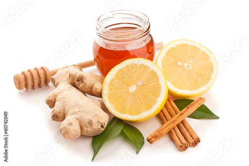 Honey, cinnamon, ginger and lemon