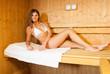 Sauna bath in a steam room