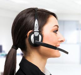 Customer representative at work