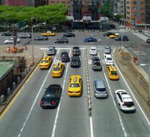Fototapete - traffic in New York City