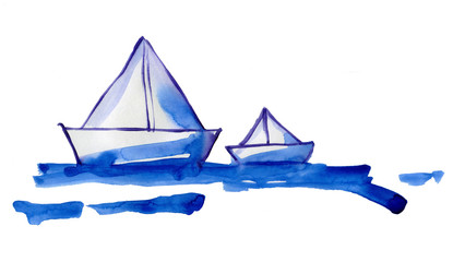paper naves on water