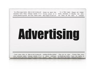 Marketing concept: newspaper headline Advertising