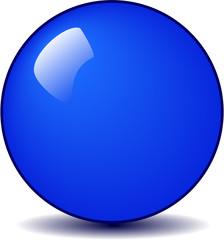 Blue round glossy ball