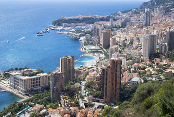 Panoramic view of Principality of Monaco