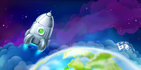 Space, vector background for website © Natis