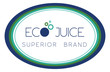 Simple oval sign for organic, ecological beverage