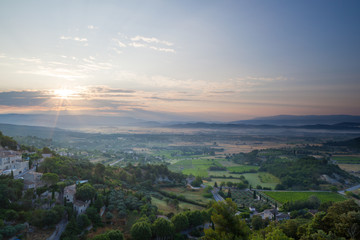 Gordes during sunrise