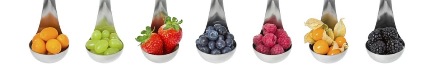 Obst auf Löffel