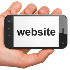 SEO web development concept: Website on smartphone